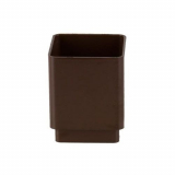Plastic Guttering Square Downpipe Connector 65mm - Brown
