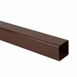 Plastic Guttering Square Downpipe 2.5m Length 65mm - Brown