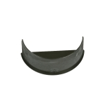 Cast Iron Style Half Round Guttering 112mm Internal Stopend  - Black