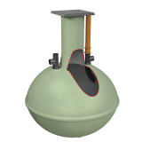 Clearwater Alpha Septic Tank - 2800 litres