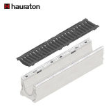 Hauraton Faserfix KS150 Channel & F900 Ductile Iron Slotted Grate - 1000mm