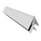 uPVC Cladding 2 Part Corner Trim 5m - White