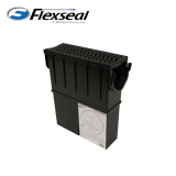 Fernco Stormdrain Channel Drain Sump Unit With Black Plastic Grate