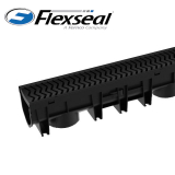 Channel Drain with Heelguard Plastic Grating - 1m