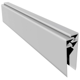 Open Vee uPVC Cladding 2 Part Edge Trim 3m - White