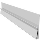 Open Vee uPVC Cladding Starter Trim 5m - White