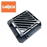Cast Iron Double Triangular Gully Grating and Frame 440 x 400mm - D400