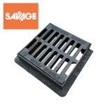 Heavy Duty Hinged Dished Top Yard Gully Grating 225 x 225mm - C250