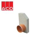 ACO KerbDrain HB305 Half Battered Left Hand Outlet End Cap