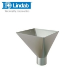 Lindab Large Square Water Hopper 75mm Painted Anthracite Metallic