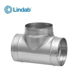 Lindab Ventilation Vent Tee Piece - 100mm x 100mm
