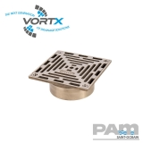Nickel Bronze 150x150mm Gully Grating Direct Fit - Vortx