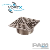Nickel Bronze 150x150mm Gully Grating NPSM Threaded Fit - Vortx