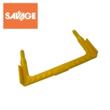 Mild Steel Double Width Yellow Step Iron 380mm Wide
