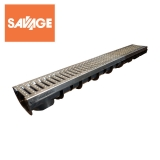 Galvanised Channel Drain 100mm x 65mm x 1000mm - LibertyPLAS