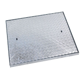 PS100 Series Solid Top Manhole Cover and Frame 750mm x 600mm - 17 Tonne