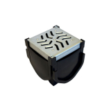 Fernco Stormdrain Channel Drain Quad Connector With Steel Lid
