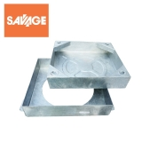 Recessed Steel Manhole Cover & Frame for Block Paving - 300mm