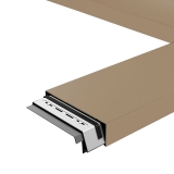 Aluminium Coping Skyline 182mm x 3m - Brown Beige