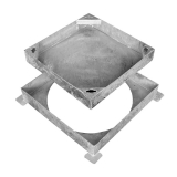 Wrekin Recessed Square-to-Round Manhole Cover for Block Paving 300mm - 10 Tonne