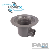 Cast Iron Shower Drain Body Horizontal 60mm Outlet - Vortx