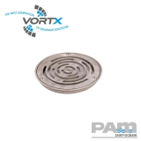 Shower Drain Circular Design Grating for Vinyl Flooring 150mm - Vortx