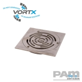 Shower Drain Circular Design Grating for Tiledd Flooring 150mm - Vortx
