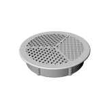 Circular Soffit Board Vent 70mm - White