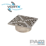 Stainless Steel 150x150mm Gully Grating Direct Fit - Vortx