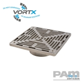 Stainless Steel 200x200mm Gully Grating Direct Fit - Vortx