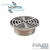 Stainless Steel 150mm Gully Grating NPSM Threaded Fit - Vortx