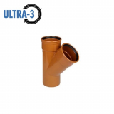 U3 Sewer Underground Drainage 45dg Double Socket Branch - 110mm