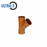 U3 Sewer Underground Drainage 45dg Triple Socket Branch - 110mm