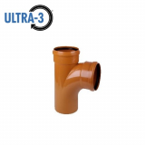 U3 Sewer Underground Drainage 87.5dg Double Socket Branch - 110mm