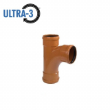 U3 Sewer Underground Drainage 87.5dg Triple Socket Branch - 110mm