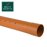 Underground Drain Pipe 110mm Blown Socket Perforated Pipe - 6m