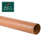 Underground Drain Pipe 110mm Plain Ended - 3m