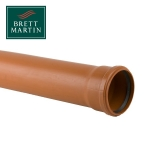 Underground Drain Pipe 110mm Single Socket - 3m